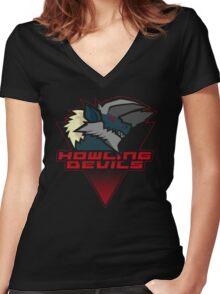 Monster Hunter All Stars - Howling Devils [Subspecies] Women's Fitted V-Neck T-Shirt