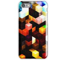 wooden cubes iPhone Case/Skin