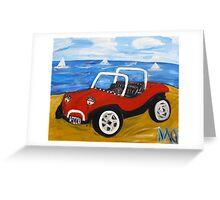dune buggy summer Greeting Card