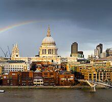 Rainbow over St Paul's by Gary Eason + Flight Artworks