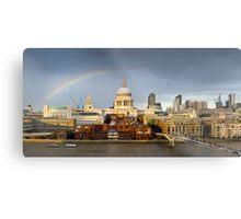 Rainbow over St Paul's Metal Print