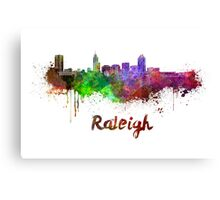Raleigh skyline in watercolor Canvas Print