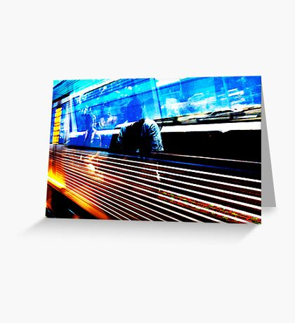 Let's Get On Fire On Board The Train  Greeting Card