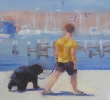 Harbour walkies  by Tash  Luedi Art