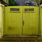 Old Green Gate by Caren