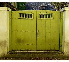Old Green Gate Photographic Print