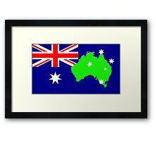 map of Australia on its flag Framed Print