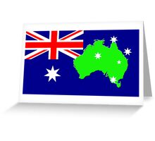 map of Australia on its flag Greeting Card