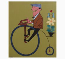Penny Farthing Rider by thehealypress