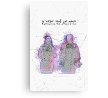 A Writer & His Muse Canvas Print