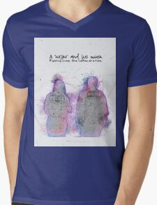 A Writer & His Muse Mens V-Neck T-Shirt