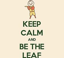Keep Calm And Be The Leaf Avatar Aang The Last Airbender by metroemporium