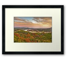 Pennybacker Bridge Autumn Colors - Austin, Texas Framed Print