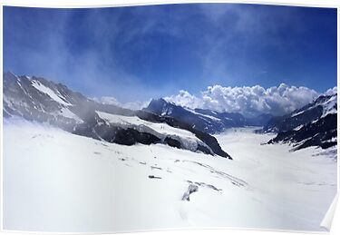 View from Jungfraujoch, Swiss Alps by AlisonOneL