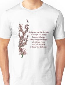 Serenity Prayer Flowering Tree Unisex T-Shirt