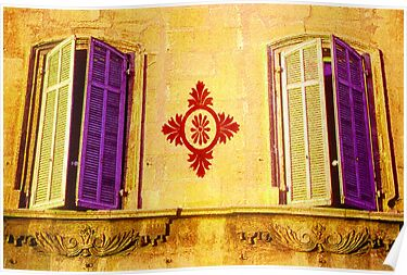 Windows & Shutters in Provence France by Tamarra