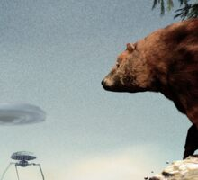 Do Aliens Get Grizzly? Sticker