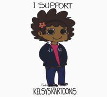 I support KK (Sticker) by KelsysKartoons