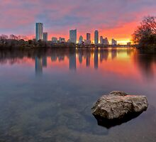 Austin Skyline in December from Ladybird Lake by RobGreebonPhoto