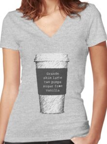 Beckett's Coffee Women's Fitted V-Neck T-Shirt