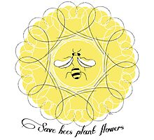 Save Bees Plant Flowers Photographic Print