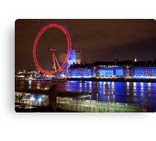 London Eye @ Night Canvas Print