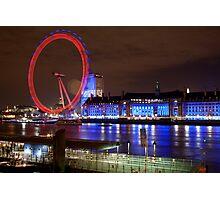 London Eye @ Night Photographic Print