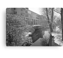 River scene - snowing Metal Print