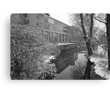 River scene - snowing Canvas Print
