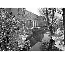 River scene - snowing Photographic Print