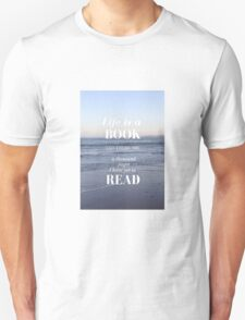 Life is a Book- Cassandra Clare- Beach T-Shirt