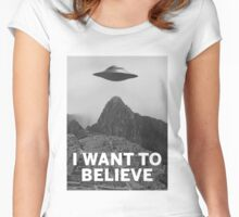 Want2Believe (Machu Picchu) Women's Fitted Scoop T-Shirt