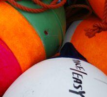 Bright buoys, Clark's Harbour Sticker