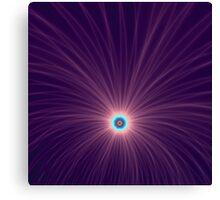 Color Explosion in Purple Canvas Print