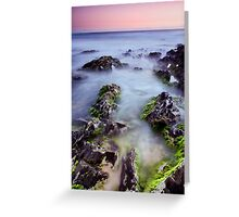 Dusk on the Rocks Greeting Card