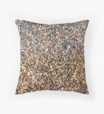 Background from sand and cockleshells Throw Pillow