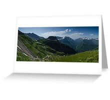Highline Trail Panorama - Glacier National Park, Montana Greeting Card