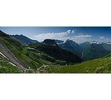 Highline Trail Panorama - Glacier National Park, Montana Photographic Print