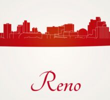 Reno skyline in red Sticker