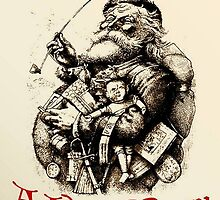 Vintage Santa Wishing You A Very Merry Christmas by taiche