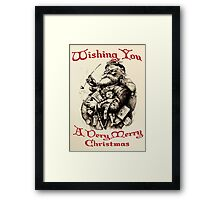 Vintage Santa Wishing You A Very Merry Christmas Framed Print