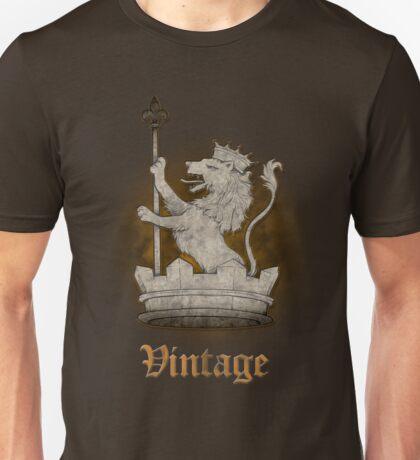Vintage Marbled Heraldic Lion Unisex T-Shirt