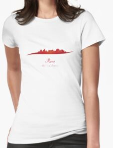 Reno skyline in red Womens Fitted T-Shirt