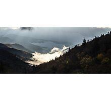 Morning Fog - Great Smoky Mountains National Park, North Carolina Photographic Print