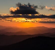 Clingmans Sunset.2 - Great Smoky Mountains National Park, North Carolina by Jason Heritage