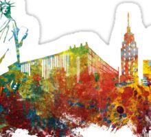 Colored New York City skyline Sticker
