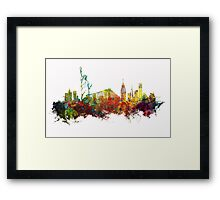 Colored New York City skyline Framed Print