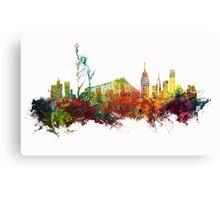 Colored New York City skyline Canvas Print