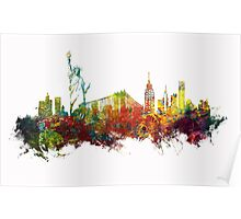 Colored New York City skyline Poster
