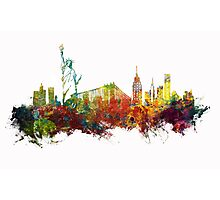 Colored New York City skyline Photographic Print